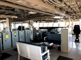 The bridge of NOAA Ship Bell M. Shimada
