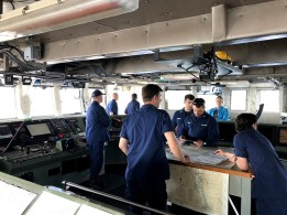 The officers of NOAA Ship Bell M. Shimada.