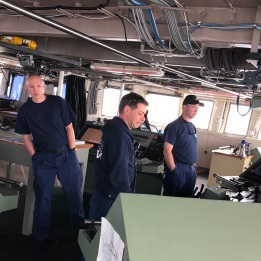 The Captain and crew are told locations to where to steer the boat and drop the fishing nets.