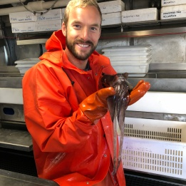 Holding a Big Squid