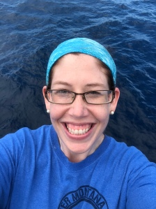 A very happy Teacher at Sea