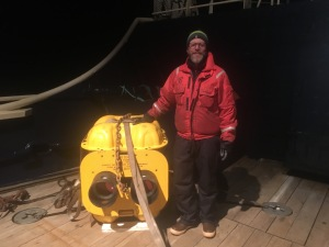 Cetacean acoustic recording buoy recovered by the Tiglax.