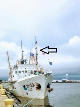 mast of the Oregon II