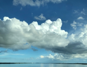 Clouds over the water
