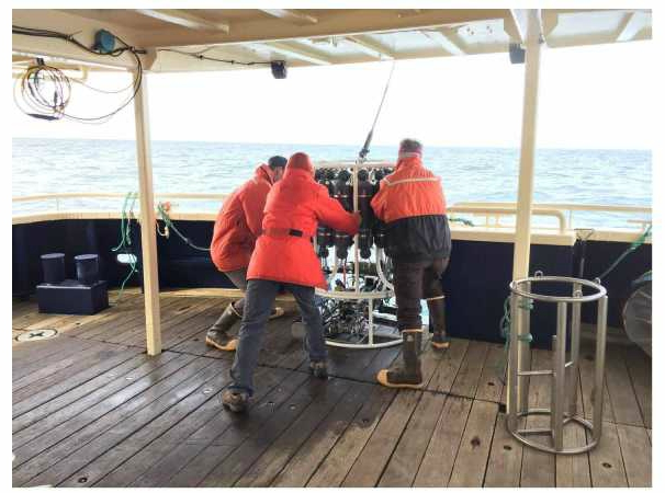 Scientists deploy CTD