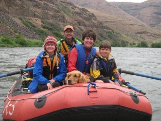 Petrick family rafting
