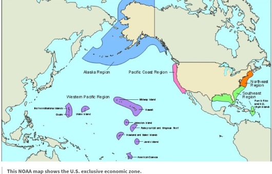 Map of U.S. Exclusive Economic Zone