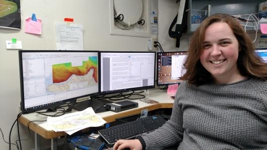 Amanda Finn, Hydrographic Survey Technician
