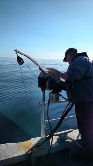 Carl Stedman deploying the probe