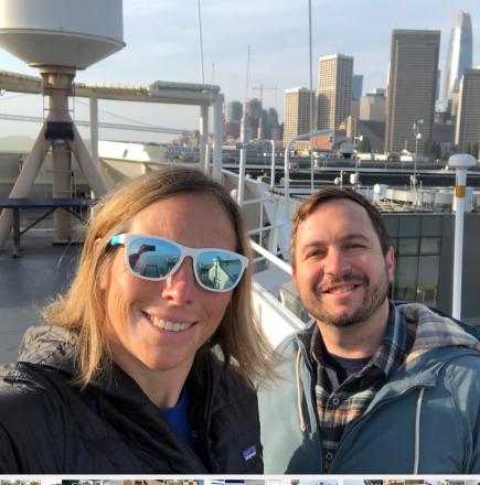 Karah and Evan on the Flying Bridge