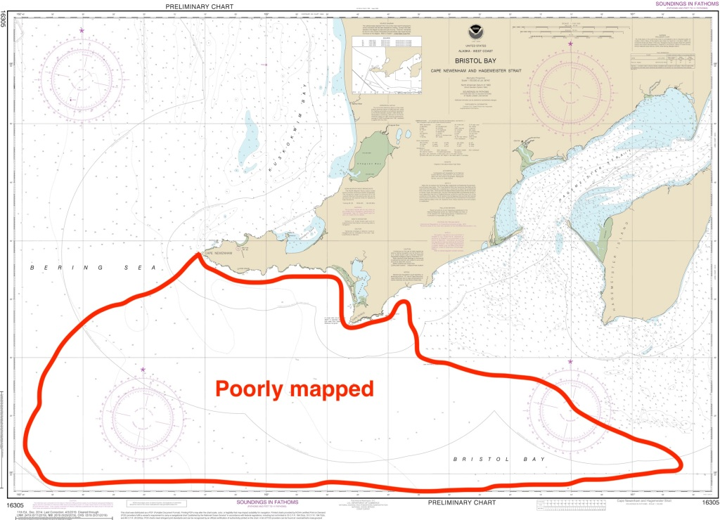 Bristol Bay nautical chart