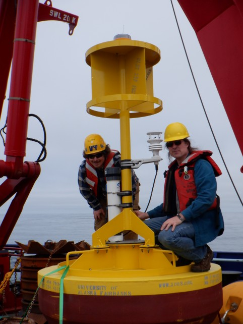 Pete and Seth on buoy