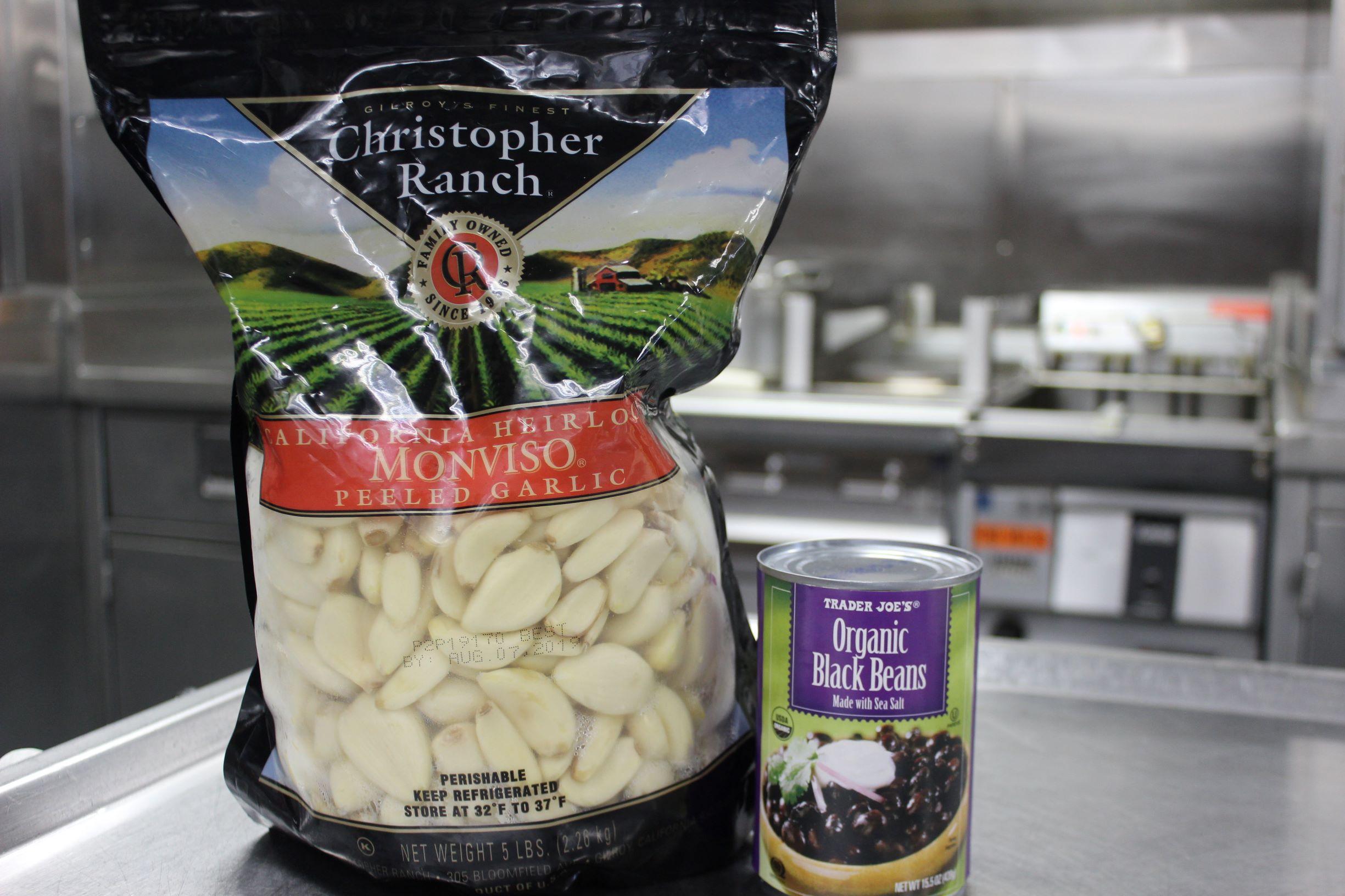 garlic and black beans