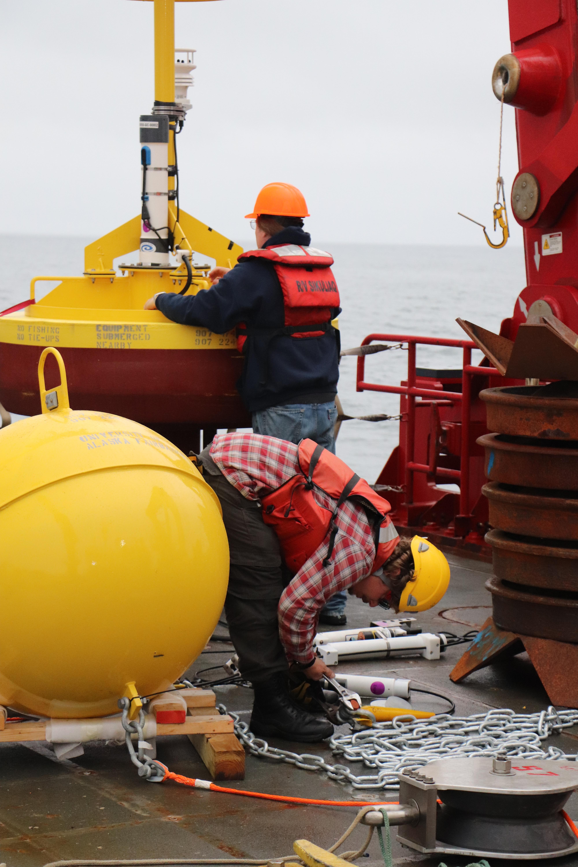 preparing buoy system