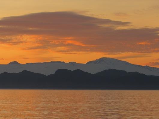 The sun setting near Mitrofania