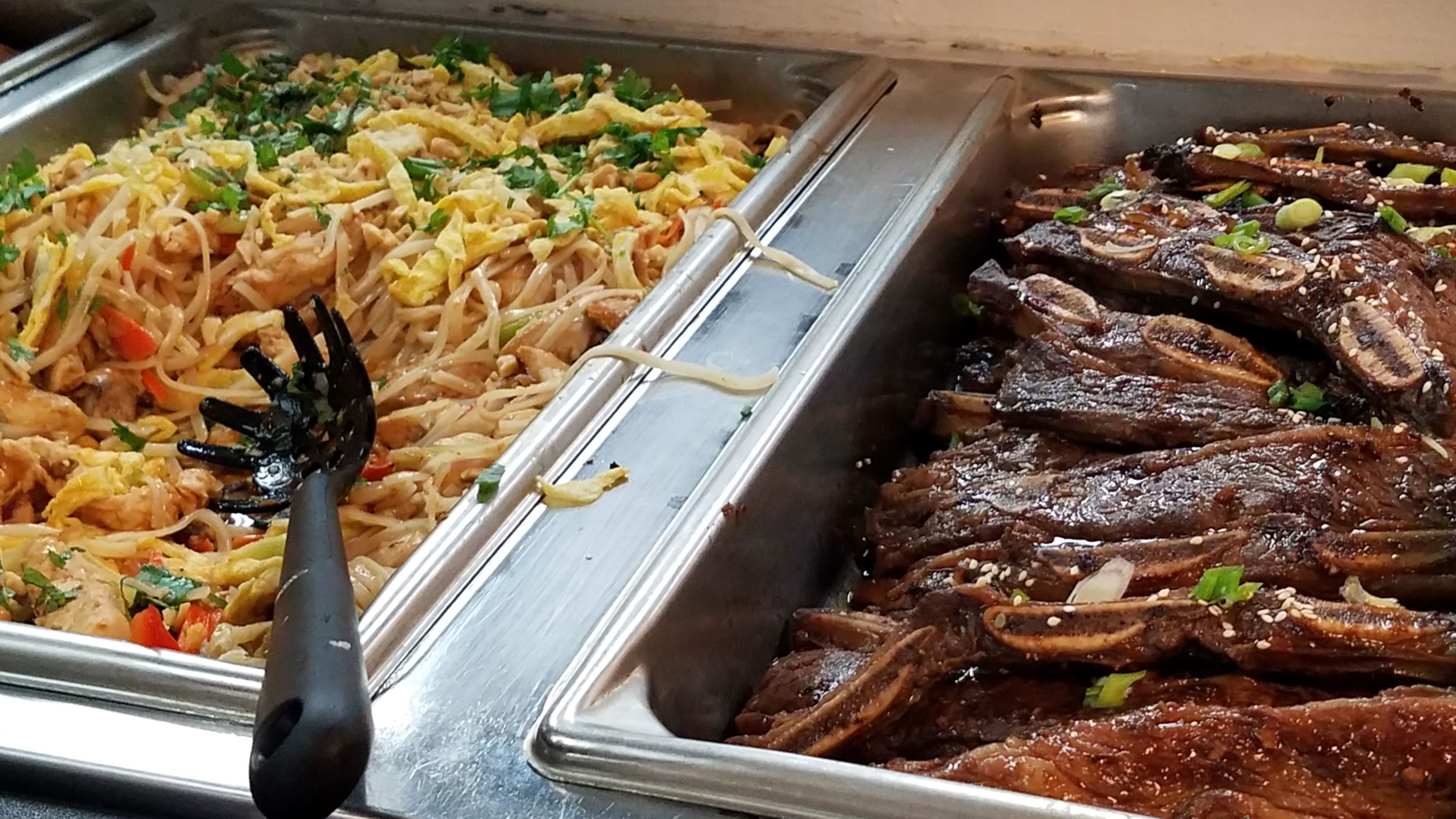 Chicken Pad Thai and Kalbi Ribs