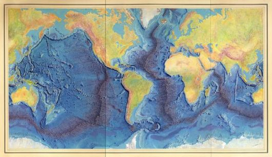 1977 colorized ocean floor map