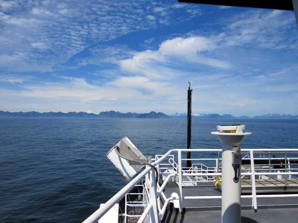 Approaching Mitrofania Island