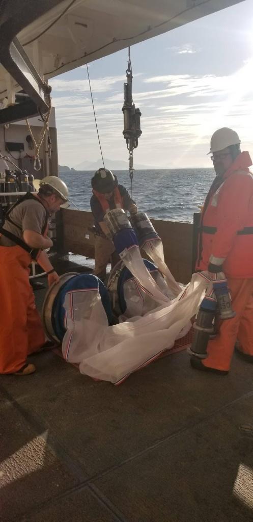 Bongo nets on deck