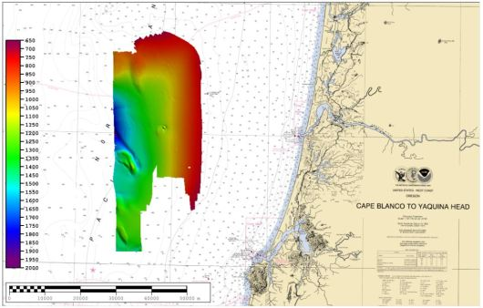 bathymetric map - north